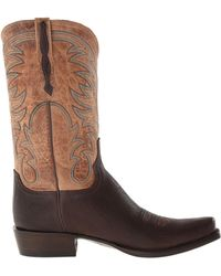 Lucchese Brown 73 - Lyst