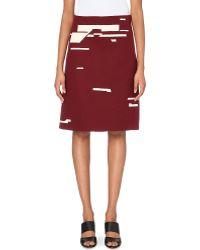 Jil Sander Geometric-Print Cotton Skirt - Lyst