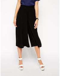 Asos Culottes in Crepe - Lyst