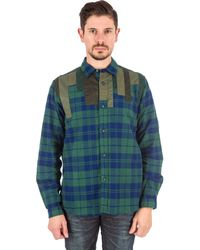 White Mountaineering | Patchwork Shirt In Green | Lyst