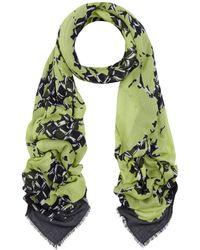 Balenciaga Yellow Garden Flower Silk-Modal Blend Scarf - Lyst