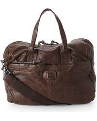 BOSS Orange - Brown Leather Duffel - Lyst