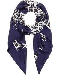 Balenciaga Printed Silk Scarf - Lyst