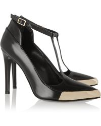 Jason Wu - Polished-leather T-bar Pumps - Lyst