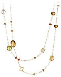 David Yurman Bead Necklace In Gold - Lyst