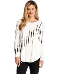 Karen Kane Long Sleeved Ink Top - Lyst