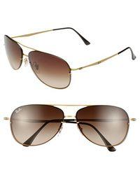 Ray-Ban Men'S 'Pilot' 61Mm Sunglasses - Sand Shiny Gold - Lyst