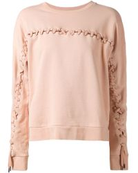 Each x Other - Lace-Up Cotton Sweatshirt - Lyst