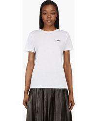 Christopher Kane White Petal Appliqu T_Shirt - Lyst