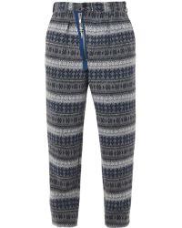 Yohji Yamamoto Nordic Fair Isleprint Woolblend Trousers - Lyst