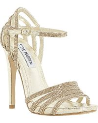 Steve Madden Cagged Diamante Strappy Heeled Sandals - For Women - Lyst
