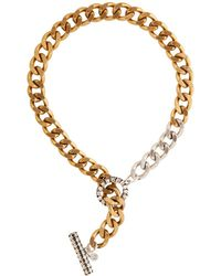 Camille K - Stell Two Tone Necklace Ii - Lyst