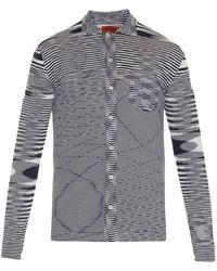 Missoni Abstract Intarsia-Knit Shirt blue - Lyst