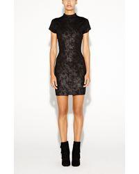 Nicole Miller Rani Foil Twill Dress - Lyst