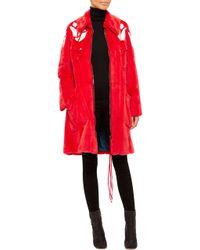 Helen Yarmak International Red Weasel Coat