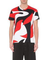 Alexander McQueen Swirl-Print Cotton T-Shirt - For Men - Lyst
