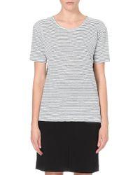 Etoile Isabel Marant Striped Linen Tshirt Beige - Lyst
