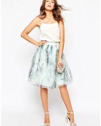 Ted Baker | Roshini Torchlit Floral Midi Skirt | Lyst