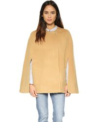 Ayr - The Camel Cloak Coat - Lyst