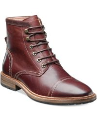 Florsheim Indie Laceup Cap Toe Boots - Lyst