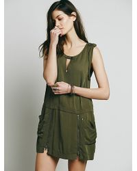 Free People Kaya Dress green - Lyst