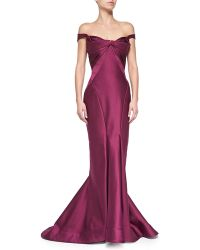 Zac Posen Origami Off-the-shoulder Gown - Lyst