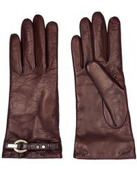 Diane Von Furstenberg Sutra Leather Gloves - Lyst