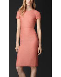 Burberry Silk-Blend Shift Dress - Lyst