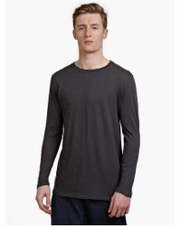 Silent - Damir Doma Men'S Grey 'Tsolma' Long-Sleeved T-Shirt - Lyst