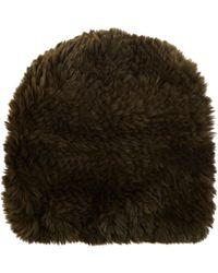 Barneys New York | Fur Slouchy Beanie | Lyst
