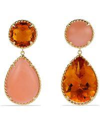 David Yurman Chatelaine Double-Drop Earrings In 18K Gold - Lyst