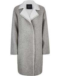 Lanvin Wool Mohair Blend Blanket Coat - Lyst