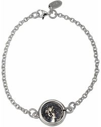 1884 Collection - 1884 - 'legacy' Sterling Silver Station Bracelet W/1 Ottaviano Coin - Lyst