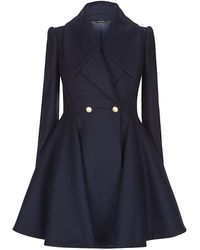 Alexander McQueen Fit and Flare Coat - Lyst