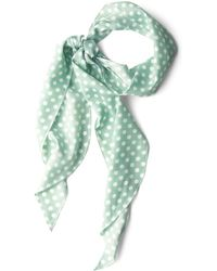 Ana Accessories Inc Bow To Stern Scarf In Sea Foam Dots - Lyst