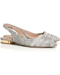 Tory Burch Classic Pointy Toe Slingback Flat - Lyst