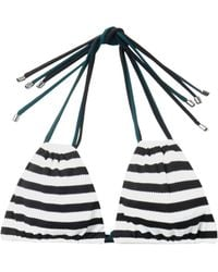 Roksanda Ilincic Zeke Striped Bikini Top - Lyst