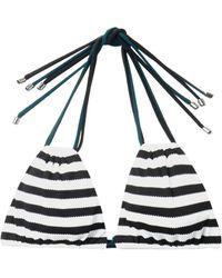 ROKSANDA - Zeke Striped Bikini Top - Lyst