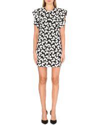 Saint Laurent Heart-print Silk Dress - Lyst