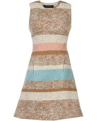 Thakoon Beige Short Dress - Lyst