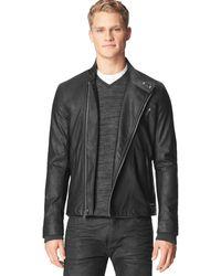 Calvin Klein Jeans Ck Jeans Textured Faux Leather Moto Jacket - Lyst