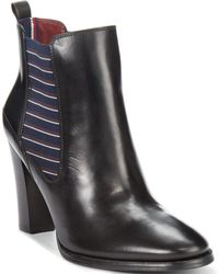 Tommy Hilfiger Women'S Vitoria Chunky Heel Booties - Lyst