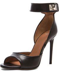 Givenchy Sharklock Leather Heels - Lyst