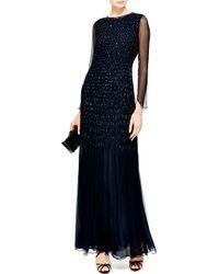 Oscar de la Renta Embellished Silk Chiffon Smocked Gown - Lyst