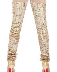 Manish Arora Sequined Leggings - Lyst