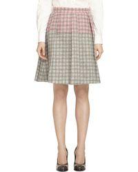 Brooks Brothers Wool Skirt - Lyst