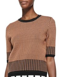 O'2nd - Christopher Grid-Print Knit Sweater - Lyst