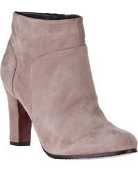 Sam Edelman Salina Ankle Boot Putty Suede - Lyst