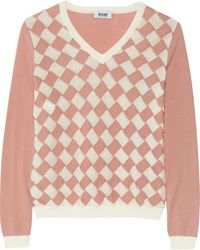 Moschino Cheap & Chic Basketweave Wool and Cotton-Blend Sweater - Lyst