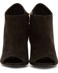 Burberry Prorsum - Black Keston Peep_Toe Ankle Boots - Lyst